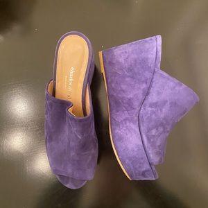Charles David wedge shoe italy purple 6